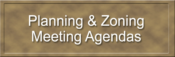 Planning & Zoning Meeting Agendas